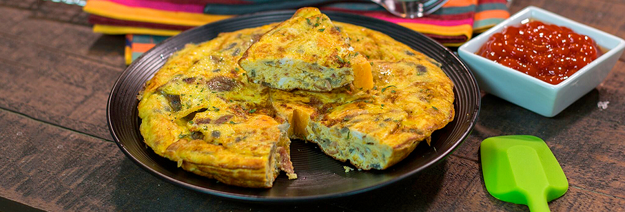 Super Quick & Easy Cheesy Spanish Omelette