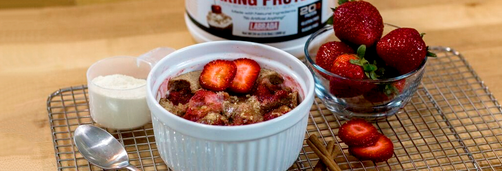 High-Protein Microwave Strawberry Cobbler