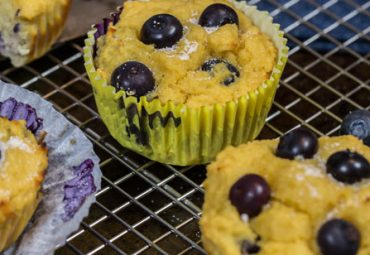 Breakfast Blueberry Protein Muffins