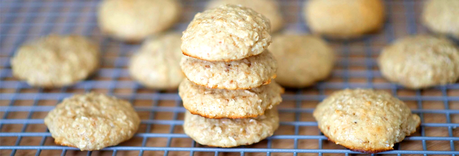 Toasted Coconut Protein Oatmeal Cookies