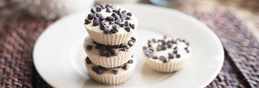 No-Bake Coconut Chocolate Chip Protein Cups