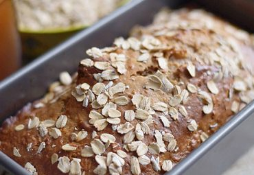 Warm Honey Cinnamon Protein Oat Bread