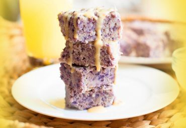 Sweet & Tangy Blueberry Lemonade Protein Blondies