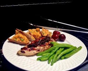 Grilled chicken with Cherry BBQ sauce