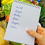shopping list in the supermarket (english)