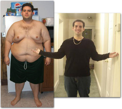 Johnathan Before - 365 pounds / Johnathan After - 185 pounds